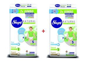 Трусики Sleepy Natural 5 Junior 11-18 кг - 48*2 = 96 шт