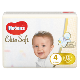 Подгузники Huggies Elite Soft 4 8-14кг 33шт