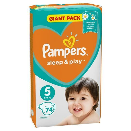 Подгузники Pampers Sleep and Play 5 (Junior) 11-16кг 74шт