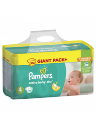 Подгузники Pampers Active Baby-Dry 4(Maxi) 9-14кг 106шт