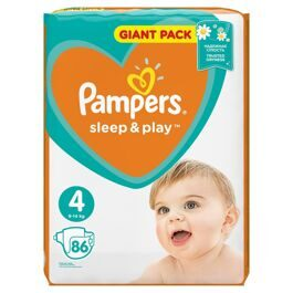 Подгузники Pampers Sleep and Play 4 (Maxi) 9-14кг 86шт