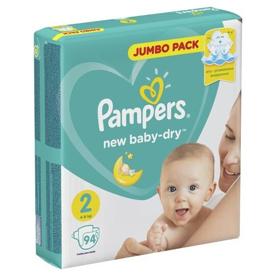 Подгузники Pampers New Baby-Dry 2 (Mini) 4-8кг 94шт