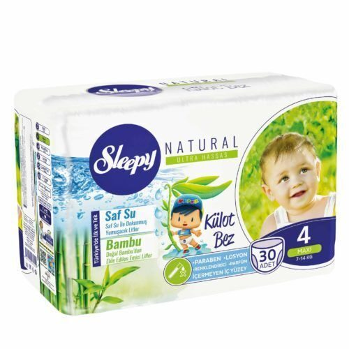 Трусики Sleepy Natural 4 Maxi 7-14 кг - 30 шт