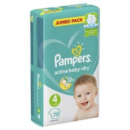 Подгузники Pampers Active Baby-Dry 4(Maxi) 9-14кг 70шт