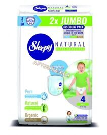 Трусики Sleepy Natural 4 Maxi 7-14 кг -  60 шт