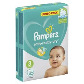 Подгузники Pampers Active Baby-Dry 3(Midi) 6-10кг 82шт