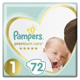 Подгузники Pampers Premium Care Newborn 1 (2-5кг) 72шт