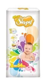Подгузники Sleepy New 2 Mini (3-6кг) 54шт