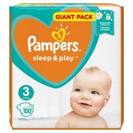 Подгузники Pampers Sleep and Play  3(Midi) 6-9кг - 100шт
