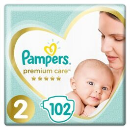 Подгузники Pampers Premium Care Mini 2 (4-8кг) 102 шт