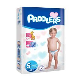 Подгузники Paddlers Jumbo Junior - 5 - 11-25 кг - 52 шт